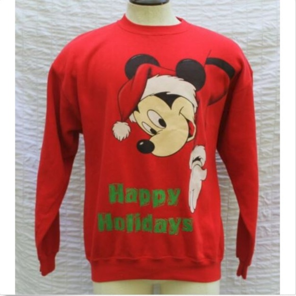 1ee101e6b Disney Shirts | Designs Christmas Mickey Mouse Sweatshirt S | Poshmark